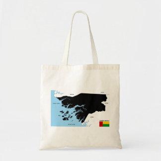 guinea bissau country political map flag tote bag