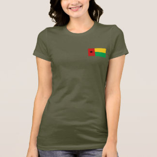 Guinea-Bissau Flag and Map dk T-Shirt