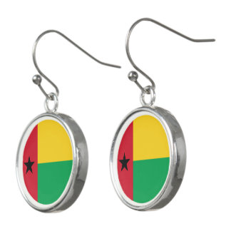Guinea-Bissau Flag Earrings