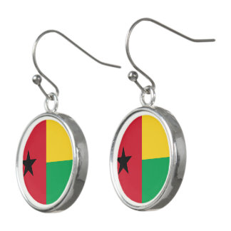 Guinea-Bissau Flag Earrings