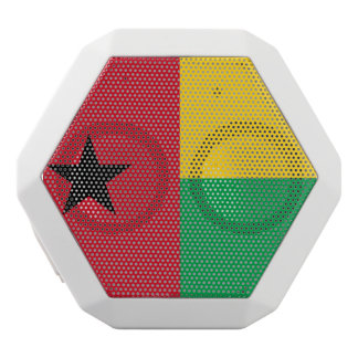 Guinea-Bissau Flag White Bluetooth Speaker