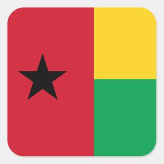 Guinea-Bissau National World Flag Square Sticker