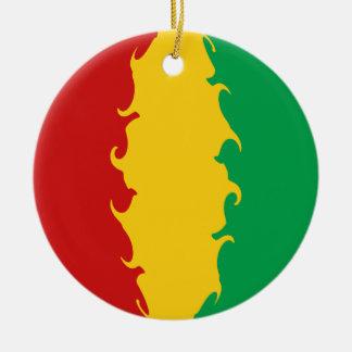 Guinea Conakry Gnarly Flag Ornament
