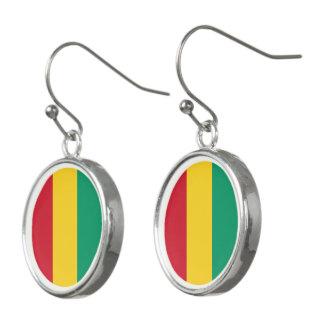 Guinea Flag Earrings