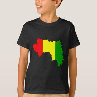 Guinea flag map T-Shirt