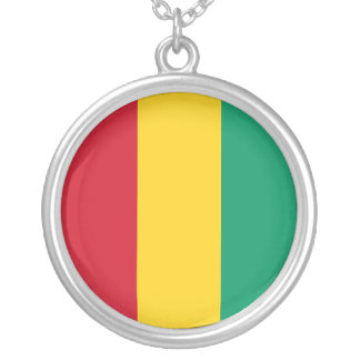 Guinea Flag Silver Plated Necklace