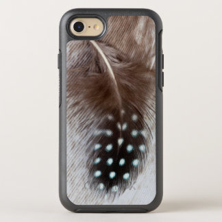 Guinea fowl and goose feather OtterBox symmetry iPhone 8/7 case
