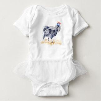 Guinea hen baby bodysuit