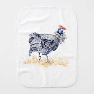 Guinea hen burp cloth