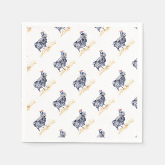 Guinea hen disposable napkins