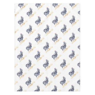 Guinea hen tablecloth