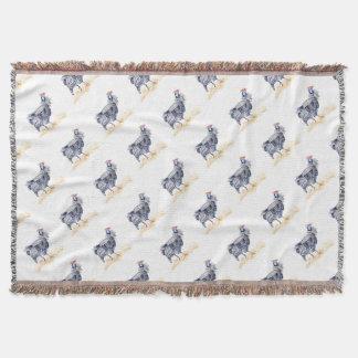 Guinea hen throw blanket