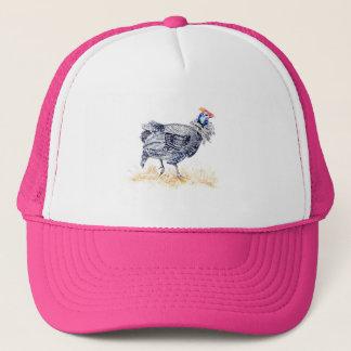 Guinea hen trucker hat