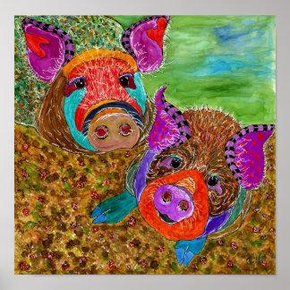 "Guinea Hog Poster 12x12"" (Customizable)"