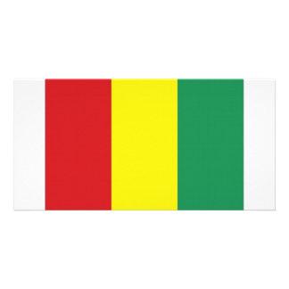 Guinea National Flag Photo Card