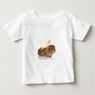 guinea pig and yellow bird baby T-Shirt