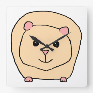 Guinea Pig Cartoon. Wall Clock