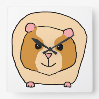 Guinea Pig Cartoon. Wallclocks