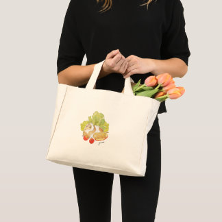 Guinea Pig Cherry Tomato Corn Watercolor Tote Bag