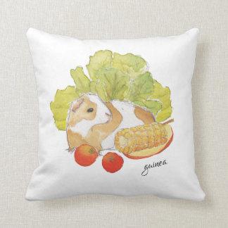 Guinea Pig Cherry Tomato Corn WatercolorPet Pillow