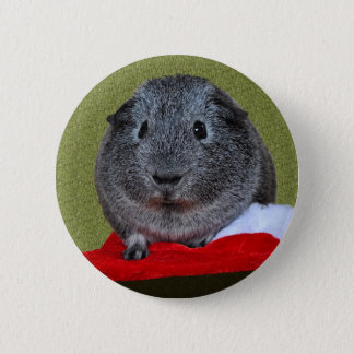 Guinea Pig Christmas 6 Cm Round Badge