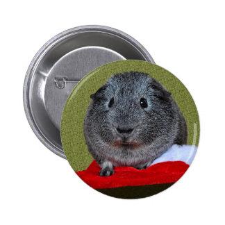 Guinea Pig Christmas 6 Cm Round Badge