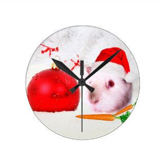 Guinea Pig Christmas Wall Clock