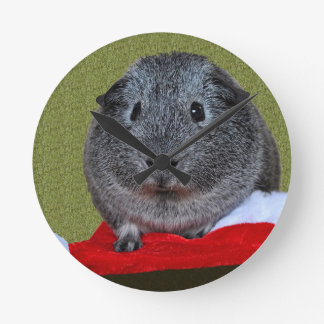 Guinea Pig Christmas Wall Clock