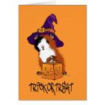 Guinea Pig Halloween Greeting Card