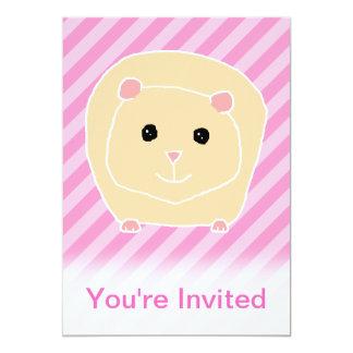 Guinea Pig. 5x7 Paper Invitation Card