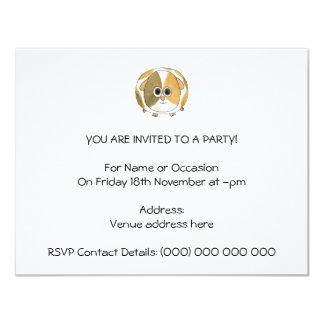 Guinea Pig. 4.25x5.5 Paper Invitation Card