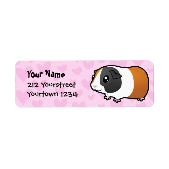 Guinea Pig Love (smooth hair) Return Address Label