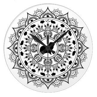 Guinea Pig Mandala Art Large Clock