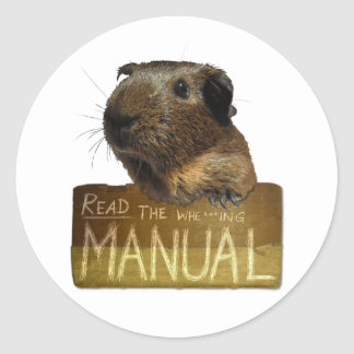 Guinea Pig Manual Classic Round Sticker