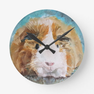 Guinea Pig Oil Painting by Kate Marr Clock