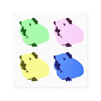 Guinea pig pop art canvas