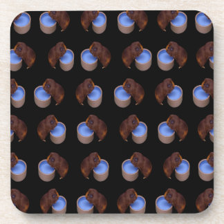Guinea Pig Standing Drinking, Drink Coaster