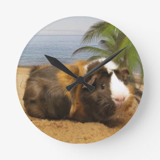 Guinea Pig Under Palm Tree Guinea Pig  Clock