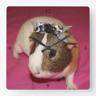 Guinea Pig With Bow 2 Wall Clock