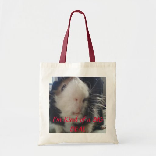 guinea pigs are a big deal canvas bags