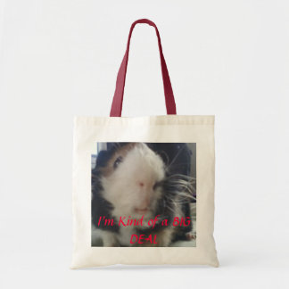 guinea pigs are a big deal budget tote bag