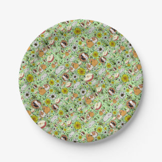 Guinea Pigs in Green Paper Plate