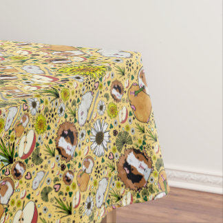 Guinea Pigs in Yellow Tablecloth