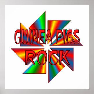 Guinea Pigs Rock Poster