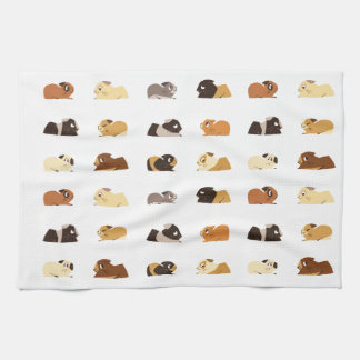 Guinea pigs tea towel