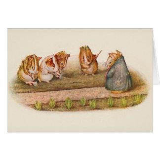 Guinea Pigs Tending Garden Card