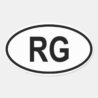 "Guinea ""RG"" Oval Sticker"