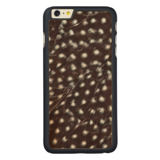 Guineafowl Spotted Feather Abstract Carved Maple iPhone 6 Plus Case