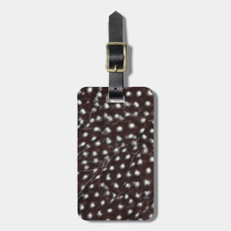 Guineafowl Spotted Feather Abstract Luggage Tag