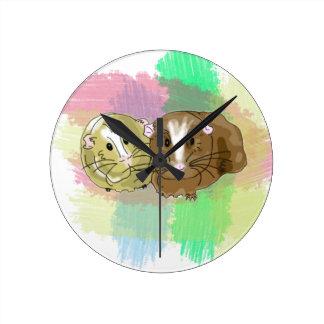 Guineapig Buddies Design Round Clock